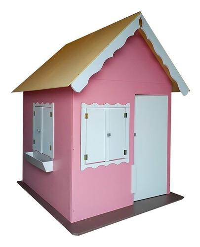 Casinha De Brinquedo Rosa Com Pé E Com Porta - Criança Feliz