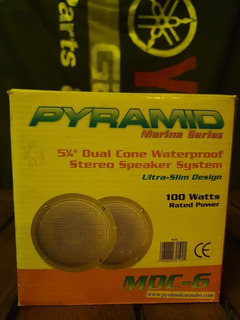 Parlante Pyramid Mdc 5 1/4 . Waterproof Speaker. Blanco.