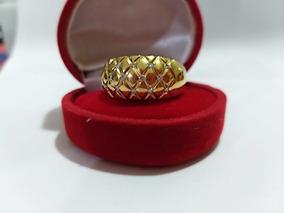 Anel Ouro 18k 750 Cravejado De Brilhantes.