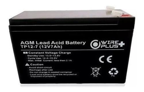 Imagen 1 de 2 de Batería Pila Ups 12v 7ah 9ah Alarma Cerco Electrico Tienda