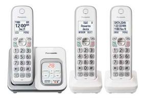 Telefono Inalambrico Panasonic 3 Pz Plateado Kx-tgd533w