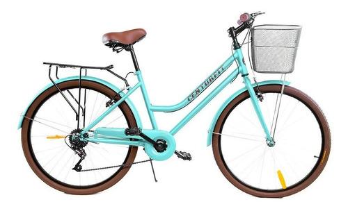 Bicicleta urbana Centurfit MKZ-BICIVINTAGE R26 7v frenos v-brakes color menta