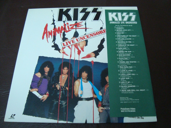Laser Disc Kiss Animalize Live Uncensored - Made In Japan