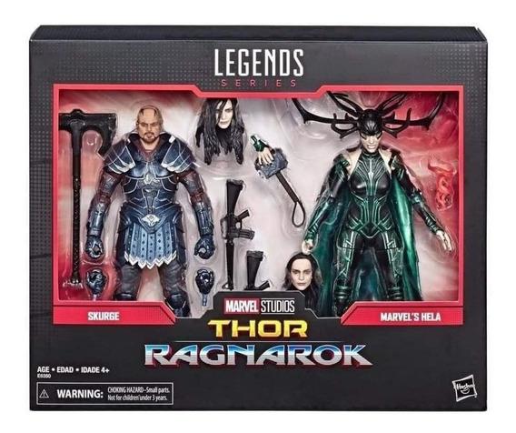 Marvel Legends 80th Aniversario Hela Y Scourge Thor Ragnarok