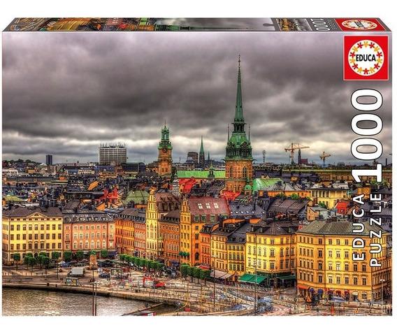 Puzzle 1000 Peças Estocolmo - Educa Importado Grow