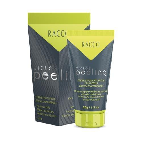Creme Esfoliante Facial Com Bambu Ciclos Peeling Racco 50g