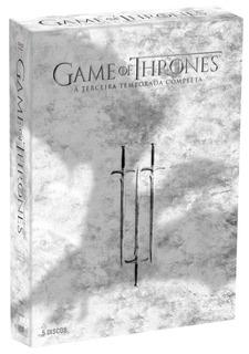 Box Game Of Thrones A Terceira Temporada Completa - 5 Dvds