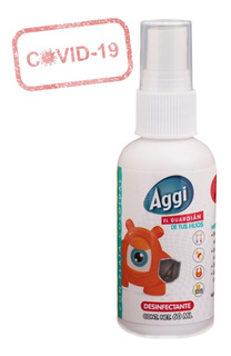 Desinfectante Sanitizante Antibacterial Spray Liquido Aggi