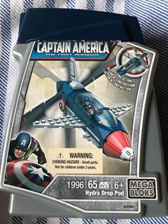 Megabloks Capitan America Hydra Drop Pod Como Nuevo!!