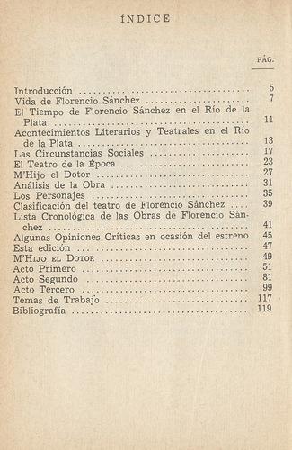 Florencio Sanchez M Hijo El Dotor Resena Historica Biografia Mercado Libre