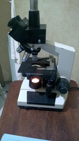 Microscópio Opton Trinocular Biológico Tim-108