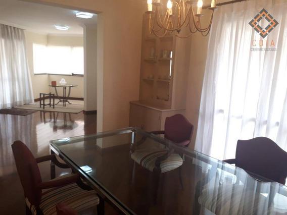 Apartamento Com 223 M², 4 Suítes, 3 Salas, Varandas, 7 Vagas, Piscina, Churrasqueira, Academia, R$ 2.500.000,00 - Ap45802