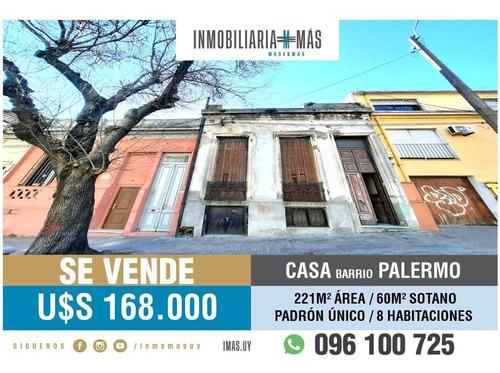 Casa Venta Padrón Único Palermo Montevideo Imas.uy Lc *