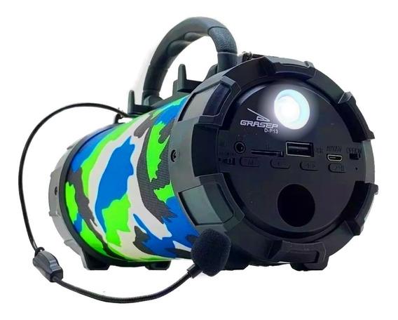 Caixinha Som Amplificada Portátil Rádio Mp3 Bluetooth Fm Sd