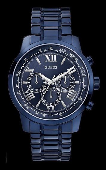 Relógio Guess Masculino Aço Azul 92526gpgdea4