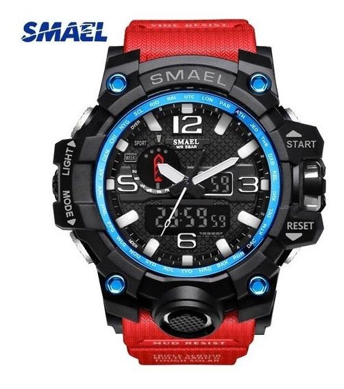 Relógio Smael Militar Modelo 1545-vermelho G-shock