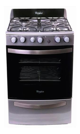 Cocina A Gas Whirlpool Wfx56dg 4 Hornallas Acero Inox **10