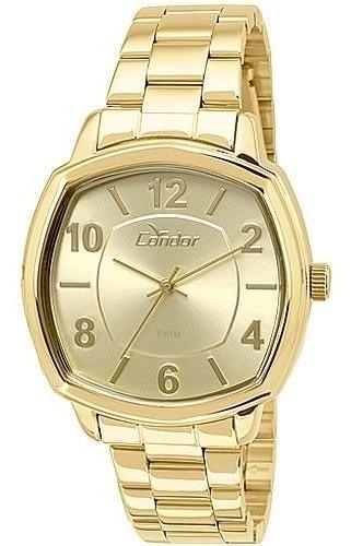 Relógio Condor Feminino Dourado Visor Dourado Co2035koq 4d