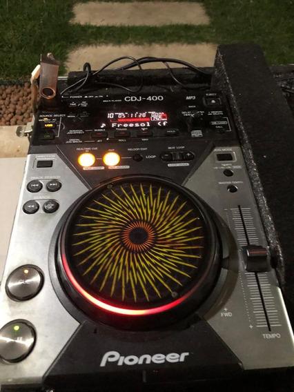 Par De Cdj Pioneer 400 + Mixer Pioneer Djm 400 + Case