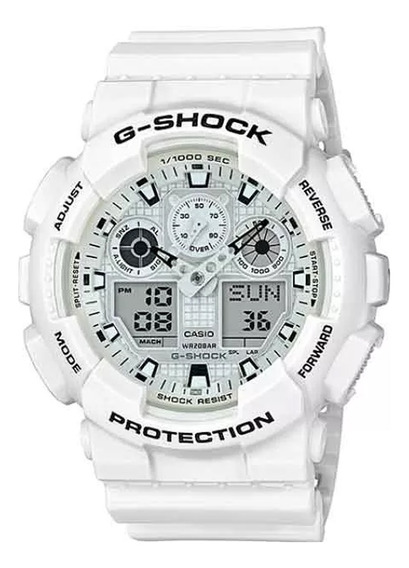 Relógio Masculino Casio G-shock Ga-100mw-7adr - Branco