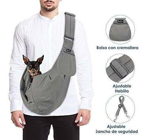 Slowton Mascota Mochila Carrier, Mano Libre Sling Ajustable