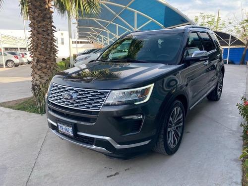 Ford Explorer Platinum 2018 Gris Iman
