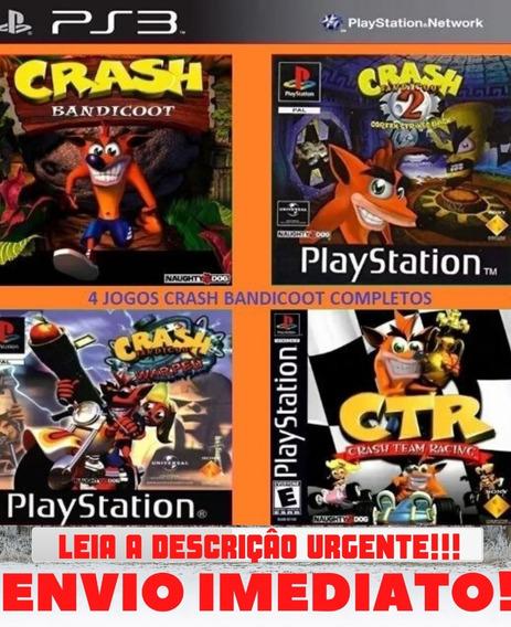 Jogo Crash 123 + Kart | 4 Em 1 Ps3 Midia Digital Envio Já!!!
