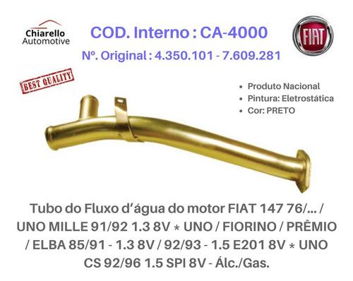 Tubo Dágua Fiat 147 Uno Mille Fiorino Prêmio Elba Álc./gas.