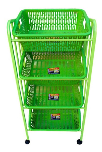Verdulero Grande Metal Organizador Frutas/verduras 4 Niveles