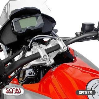 Scam Spta271 Riser Adaptador Guidao G310r 2017+ Prata