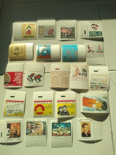 Imagen 1 de 5 de Colección De 38 Timbres Postales México Año 1988 Nuevos