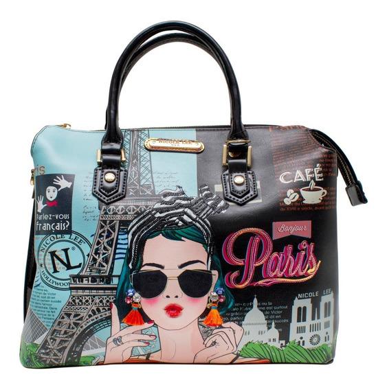 Bolsa De Mano Nicole Lee Xoxo From Paris Estampada