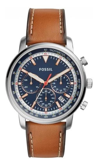 Relógio Fossil Masculino Sports Goodwin Chrono Marrom - Fs54