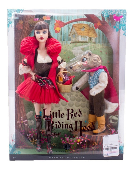 Boneca Barbie Collector Little Red Riding Hood And The Wolf