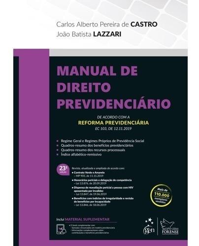 Manual De Direito Previdenciário 23ªed - 2020