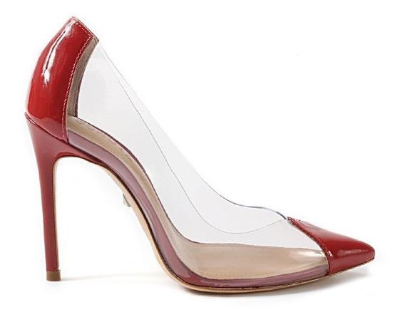 Sapato Scarpin Schutz Vinil Silicone