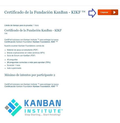 Certificacion Gratis De Kanban Ultimos Dias Auto Examen Mercado Libre
