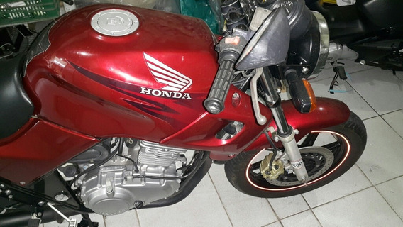 Moto Honda Cb500 2001 Carburada Vermelha Impecável (cb 500)
