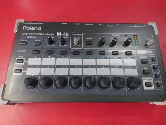 Mixer De Monitoração Roland M48 16 Canais Original!
