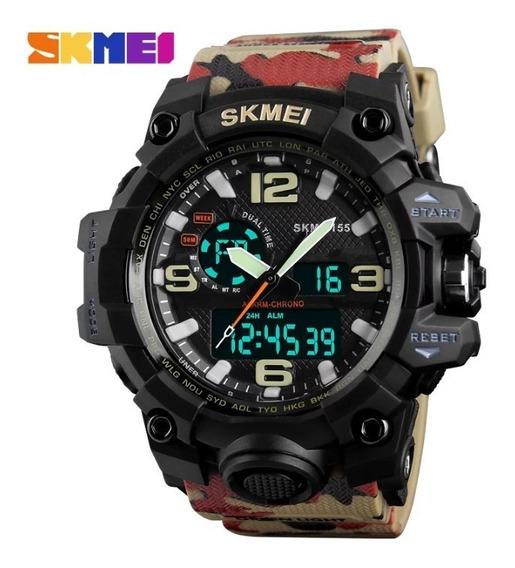 Relógio Skmei 1155 Camuflado 5 Unidades Promoção