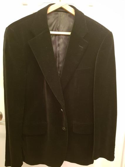 Saco / Blazer De Pana Negro Hombre Basement Talle M