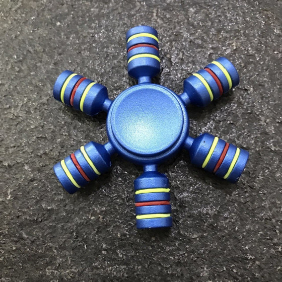 1 Fidget Hand Spinner Hexagonal Metal Abec 15 Super Raro