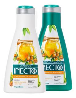Set De Shampoo Y Acondicionador Inecto Elixir De Reparación
