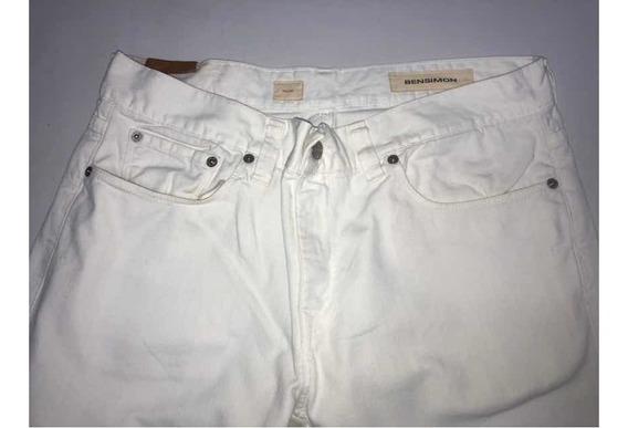Jeans Hombre Bensimon Talle 32 Cintura 46 Con Detalle