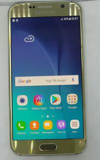 Samsung Galaxy S6 G920f 32gb Dourado Vitrine Burn-in