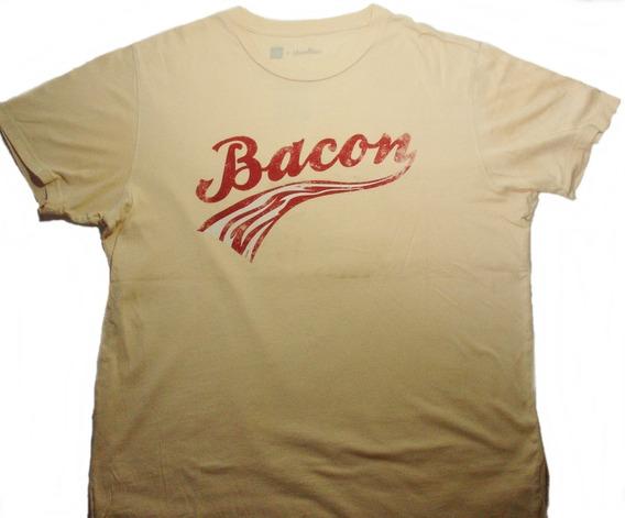 Remera Gap Threadless M/corta T/xl Estampado Bacon Art Usado