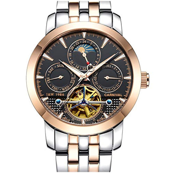 Carnival Mens Tourbillon Multifunción Calendario