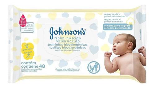 Imagem 1 de 2 de Lenços Umedecidos Johnsons Baby Rn Sem Fragrância C/48 Unid.