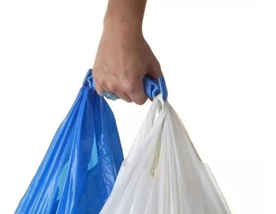 Manija Porta Bolsa Plastico Grande Agarradera Diseño Maumau