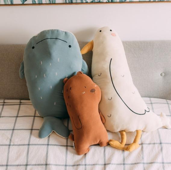 Almohadón De Animal 50 Cm: Ballena, Oso, Pato